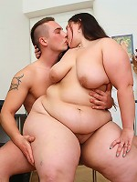 She was working on her computer when he came in and now she gets fucked in fat pussy